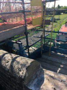 Scaffolding at Stoke Golding Bridge
